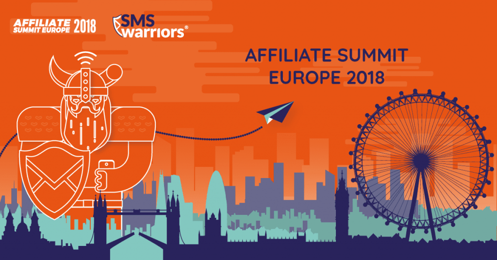 SMSwarriors Meet us at Affiliate Summit Europe 2018